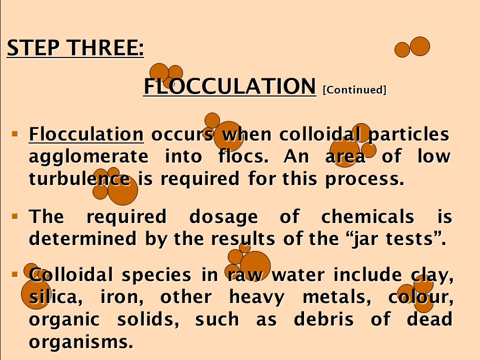 FLOCCULATION [Continued]